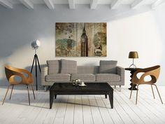 Obraz na płótnie - VINTAGE  - 120x80 w VAKU-DSGN na DaWanda.com