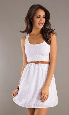 White Summer Short Dresses someday