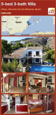 5-bed 3-bath Villa in Altea, Alicante (Costa Blanca), Spain ►€995,000 #PropertyForSaleInSpain