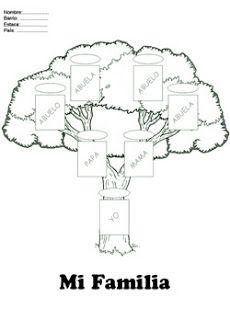 Fichas Infantiles: Árbol genealógico para colorear