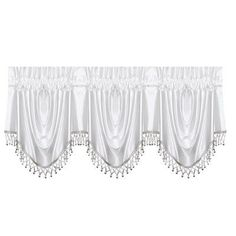 "Five Queens Court Sonata 43"" Window Valance Color: White"
