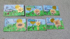 "ATCs ""Summer"" series of 6"