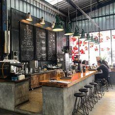 Pin by danny skipper on commercial interior design in 2019 coffee shop, cof Industrial Coffee Shop, Rustic Coffee Shop, Cozy Coffee Shop, Coffee Shops, Coffee Coffee, Coffee Beans, Coffee Enema, Coffee Humor, Ninja Coffee