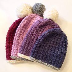 Ravelry: Kram Beanie adult & Kramlua Voksen by Snuppelura Design Beanie, Ravelry, Knitted Hats, Knit Crochet, Winter Hats, Beret, Knitting, Pattern, Design