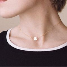 "Necklace Delicate dot chocker. Gold plated. 14"" Not easily tarnished. Jewelry Necklaces"