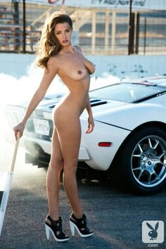 Wife nude at race track