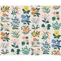 GREEN BLUE Meter//Fat Quarter//FQ Cotton Fabric Retro Big Quatrefoil Floral Print