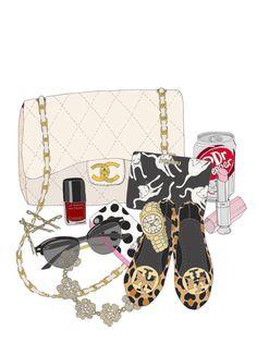 Girly Girl Fashion Illustrations by Kristina Hultkrantz by emmakisstina Bag Illustration, Portrait Illustration, Foto Fashion, Fashion Art, Fashion Design, Fashion Moda, Trendy Fashion, Girly Things, Cool Things To Buy
