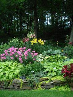 Garden tops rock wall...