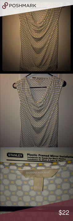 Banana Republic sleeveless blouse Cowl neck sleeveless blouse. Form fitting yet breathable. Great for work! Banana Republic Tops Blouses