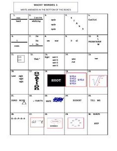 Printables Wacky Wordies Worksheets wacky wordies word puzzles words activities and the ojays