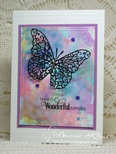 Hi, I hope you're having a wonderful day! Here's another card from playing with the Distress Oxide Inks (DOX) I smooshed some ...