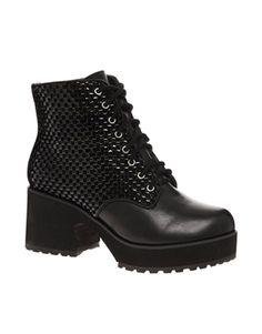 Shellys London Pilikova Platform Lace Up Ankle Boots