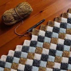Fantastic Photographs Tunisian Crochet afghan Thoughts Abenteuer in Entrelac / Crochet Stitches Patterns, Crochet Designs, Crochet Afghans, Crochet Baby, Free Crochet, Knitting Patterns, Knit Crochet, Easy Knitting, Crotchet