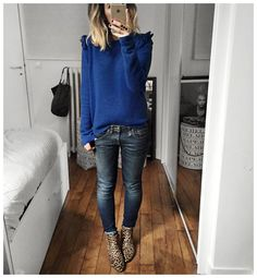"""Knit #leonandharper (from @labrandboutique)  Jean """"Kate"""" #r13 (from @lagrandeboutiquelgb)  Boots #isabelmarant ... by audreylombard"""