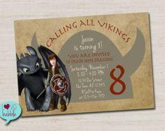 How to train your dragon, Viking Invitation - PRINTABLE DIGITAL FILE - 5x7