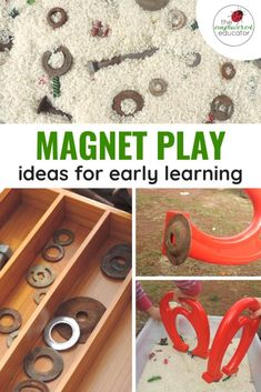 Sensory Fine Motor Magnet Fun with Recycled Materials - The Empowered Educator - add some science to your invitations to play with this magnet sensory play idea games for toddlers Preschool Science, Preschool Learning, Science For Kids, Early Learning, Teaching Kindergarten, Learning Centers, Sensory Bins, Sensory Activities, Preschool Activities