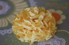 DIY fabric flower using wired ribbon, and no sewing machine