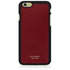Vianel Lizard iPhone 6/6s Case (€83) ❤ liked on Polyvore featuring accessories, tech accessories, phone cases, phone, case and scarlet red