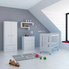 habitacin infantil mini cuna cmoda armario en color blanco con encanto especial gracias