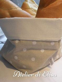 Cestino porta pane in stoffa