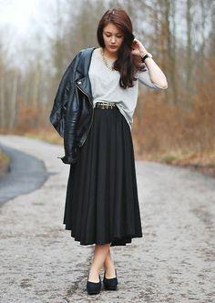 Romwe Skirt | Black skirt (by Marie Schöniger) | LOOKBOOK.nu