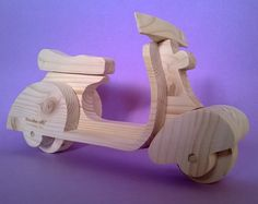 "Wooden scooter wooden toys wooden Vespa scooter for kids in solid pinewood model "" Special "" ( Cod . GIO013 )"