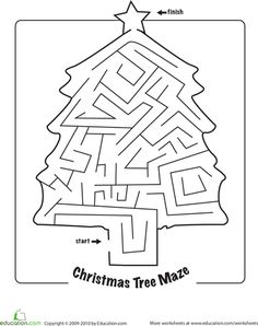 Worksheets: Christmas Maze