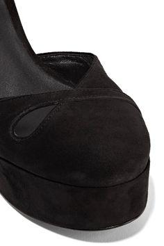 Marc Jacobs - Lucille Cutout Suede Platform Pumps - Black