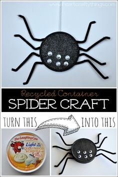 I HEART CRAFTY THINGS: Halloween Spider Craft