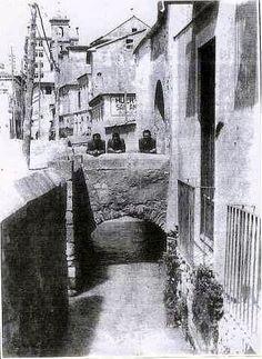 Academias del Jardín: La calle de la Acequia, tramo Maestro Alonso Murcia, Granada, Alicante, Vintage Pictures, Barcelona, Spain, Black And White, Alonso, Antiques