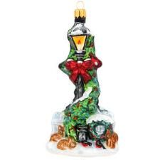 2016 Annual Form Lamppost With Garland Glass Ornament