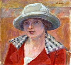Jeune Femme Au Chapeau Blanc (Etude De Tete) - Pierre Bonnard