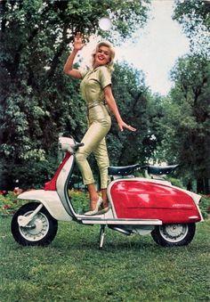 Jayne Mansfield ~ Lambretta Scooters, 1960s