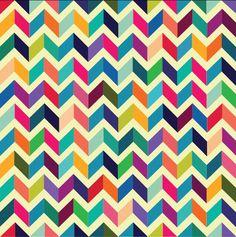 Rainbow chevron pattern. Love the color scheme and the interesting design.