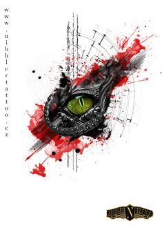 tattoo trash polka crocodile