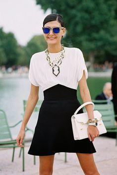 P&B forever! Vanessa Jackman: Paris Fashion Week SS 2014....Giovanna