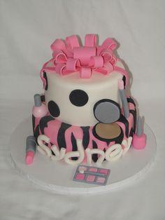 Lipstick and nail polish cake..I want it for my next birthday!