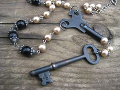 Keys and pearls.