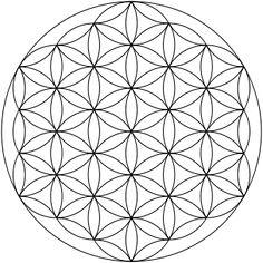 Mandala ou rosace, le symbole ancien de la Fleur de Vie, très à l ...