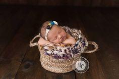 Newborn Photo Prop  Tieback  Baby Headband  by Knitzbybeansknots