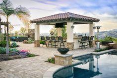 Exterior design Ideas For Modern Gazebo Backyard Pergola, Backyard Landscaping, Backyard Retreat, Gazebo Plans, Gazebo Ideas, Pool Ideas, Enclosed Gazebo, Modern Gazebo, Large Gazebo