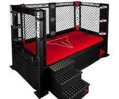 MMA Cage Bed....We Love This! www.primalfitnesscenters.com #MMA #bed #boys #furniture #cage #irvine