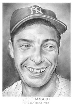 Joe DiMaggio - Baseball Player by gregchapin on deviantART~ artist Greg Joens