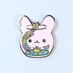 Pin and patches - Terrarium Bunny Pin – Pin and patches Pins Badge, Cool Pins, Pin And Patches, Hard Enamel Pin, Metal Pins, Lapel Pins, Pin Collection, Decoration, Unique Gifts