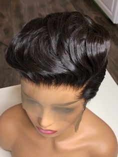 Cute short hairstyles wigs for black women lace front wigs human hair wigs african american wigs the same as the hairstyles in picture buy now Short Black Natural Hairstyles, Short Bob Hairstyles, African Hairstyles, Wig Hairstyles, Natural Hair Styles, Short Hair Styles, Black Hairstyles, Woman Hairstyles, Behive Hairstyles