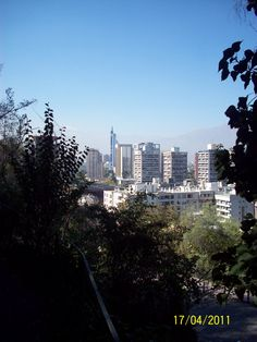 Vista de Santiago de Chile, desde el cerro Santa Lucías.