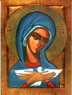 Pneumatofora Religious Images, Religious Art, Prayer Wall, Mary And Jesus, Biblical Art, Holy Mary, Painting Studio, Orthodox Icons, Angel Art