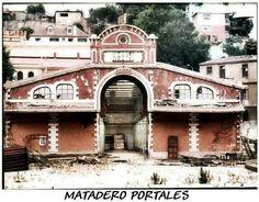 Frontis del Matadero Portales, donde hoy de ubica Inacap Valparaíso