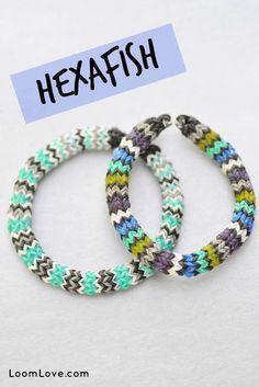 How to Make a Rainbow Loom Hexafish Bracelet #rainbowloom